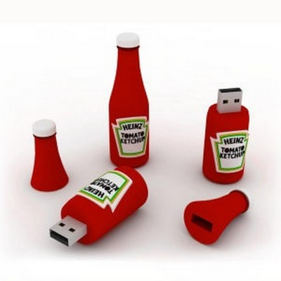 Ketchup bottle shape PVC Pendrive CSPVC18