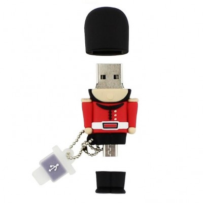 OTG PVC Pendrive British Soldier Look CSPVC38