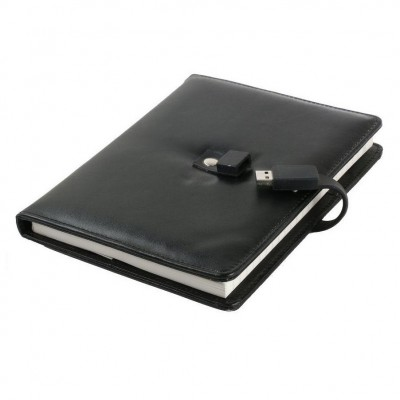 Logo printed Diary / Notebook with USB CSD901 4GB to 64GB