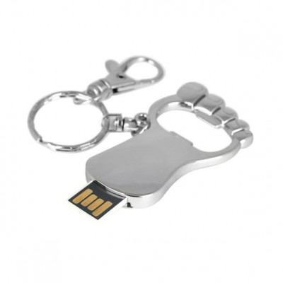 Foot Shape Metal USB Pen Drive CSM205