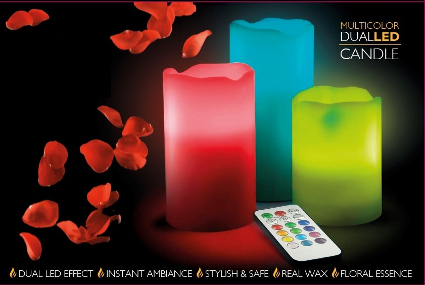 Flameless Color Changing LED Candle Lights W/ Remote