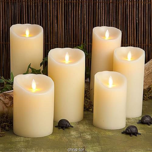 Premium Paraffin Wax Dancing Wig LED Candle Gift Set of 3